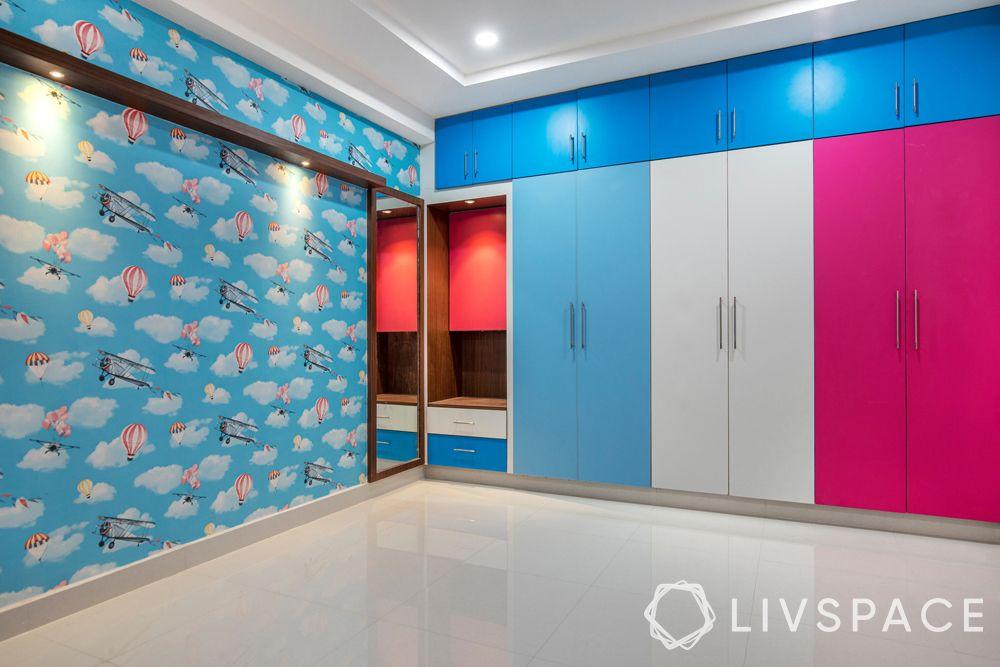 best budget interior designers in hyderabad-wallpaper-panel-spotlights