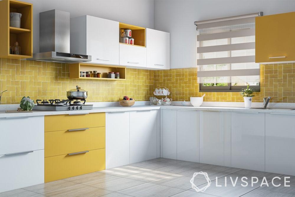 yellow kitchen-l shaped kitchen