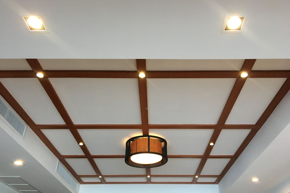 gypsum board ceiling design-false ceiling-geometric patterns