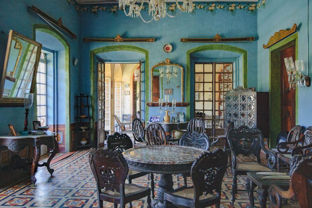 goa villas-wall colours-blue walls
