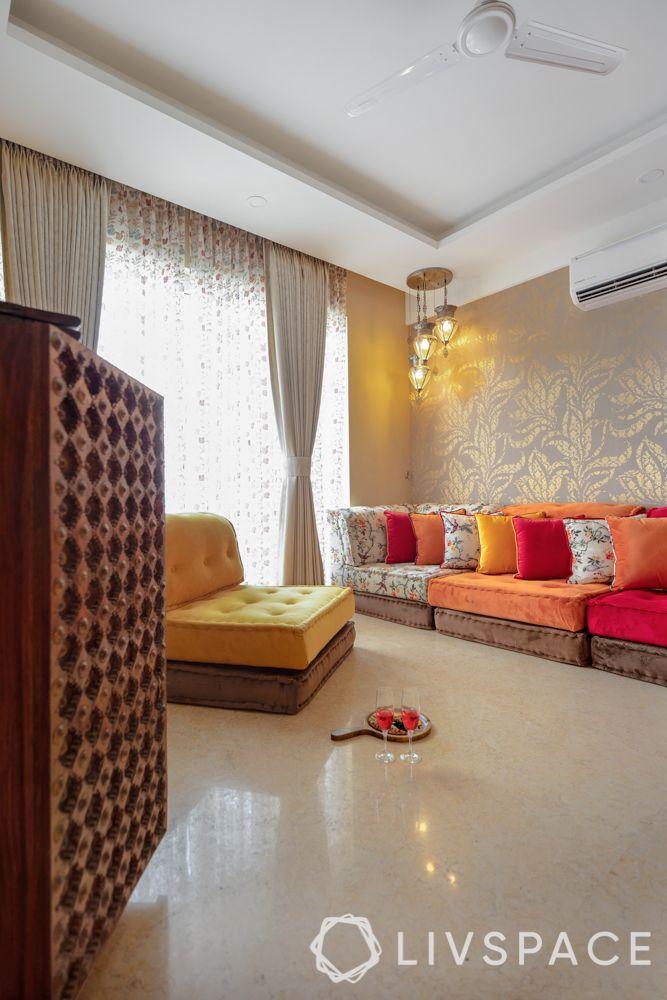 living room-floor seating