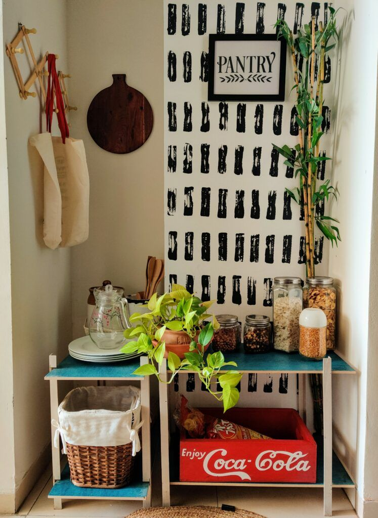diy home decor crafts-wall mural-pantry