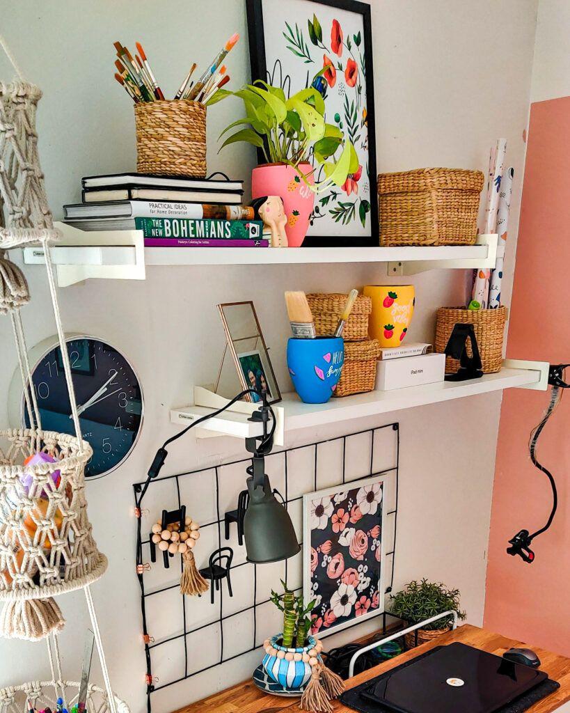 craft ideas for home decor-shelves-grid