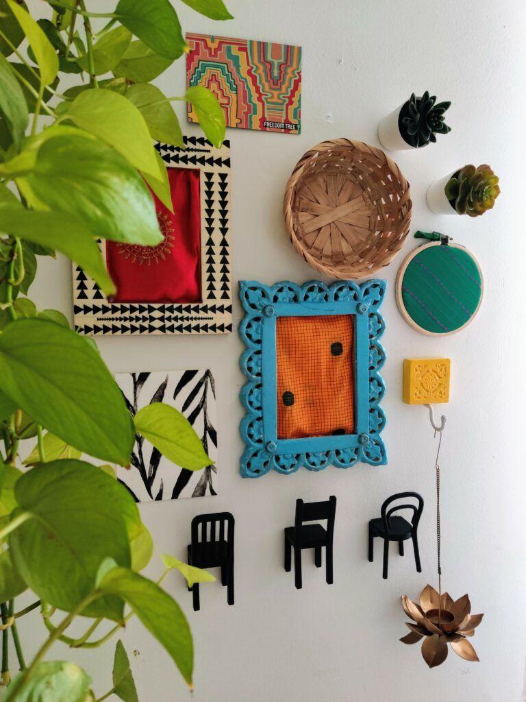 craft ideas for home decor-art-vibrant wall