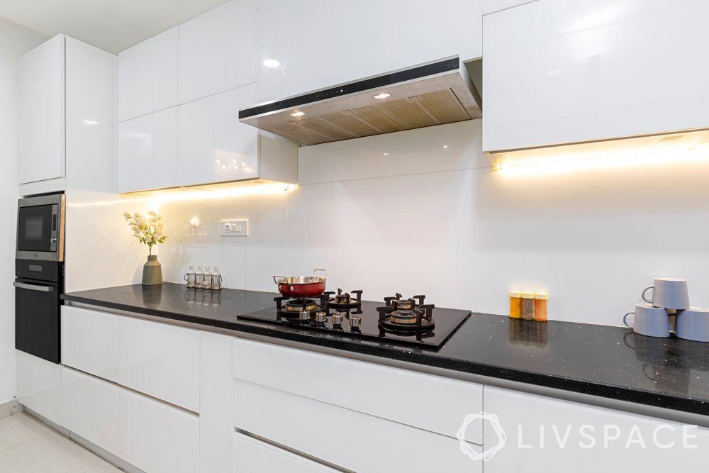 interior design for kitchen-white kitchen-handleless kitchen