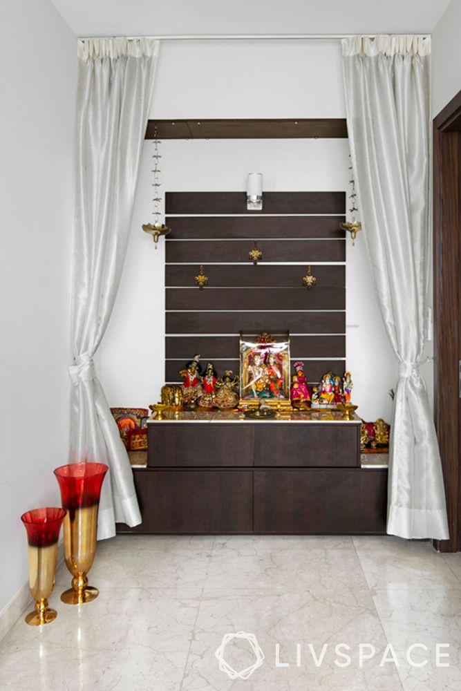 pooja unit-curtains-mandir