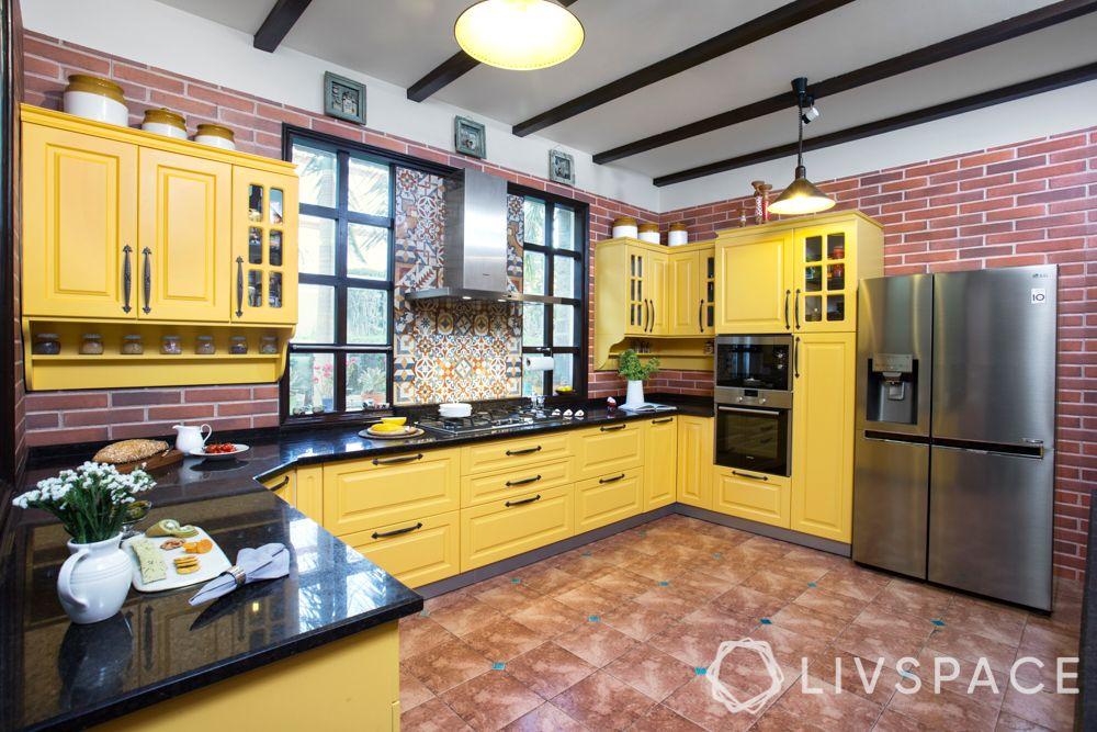 interior design for kitchen-yellow kitchen-country style kitchen