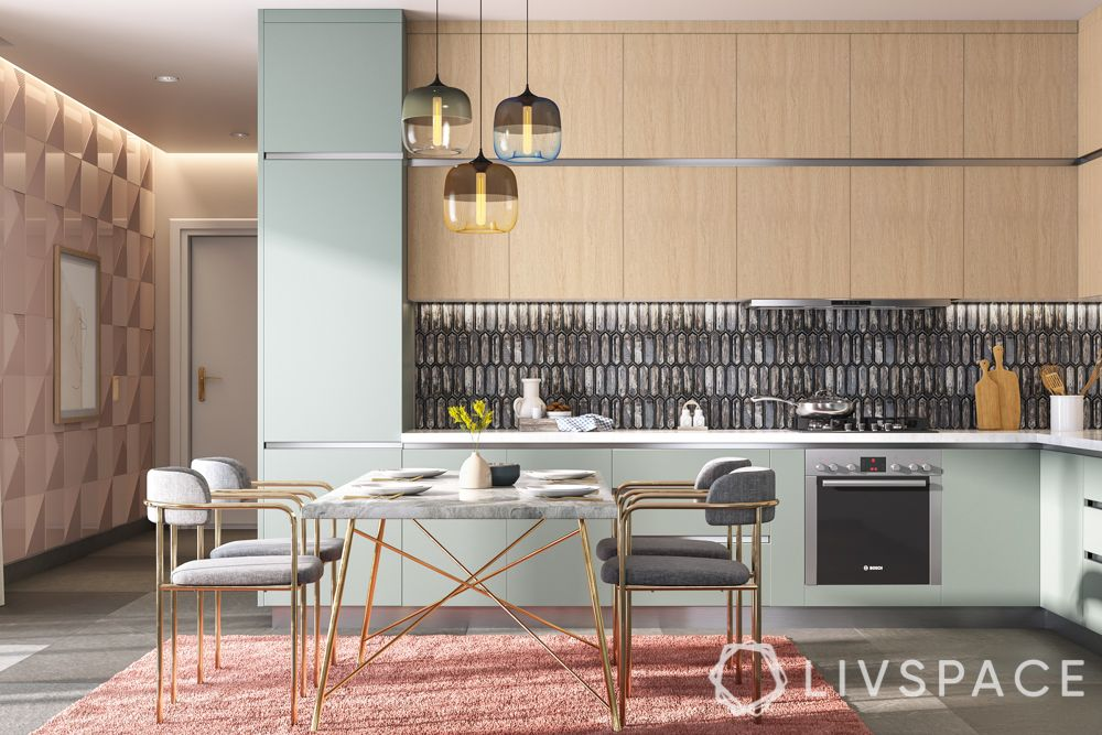 interior design for kitchen-mid century modern