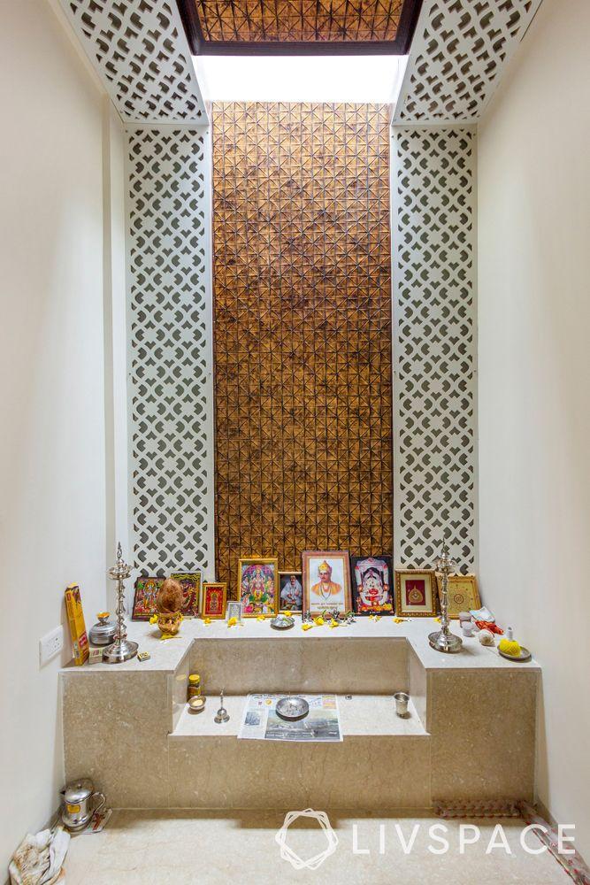 mandir unit-patterned pooja room