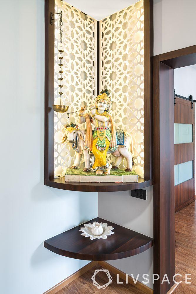 mandir unit-mandir in a nook-jaali backpanel