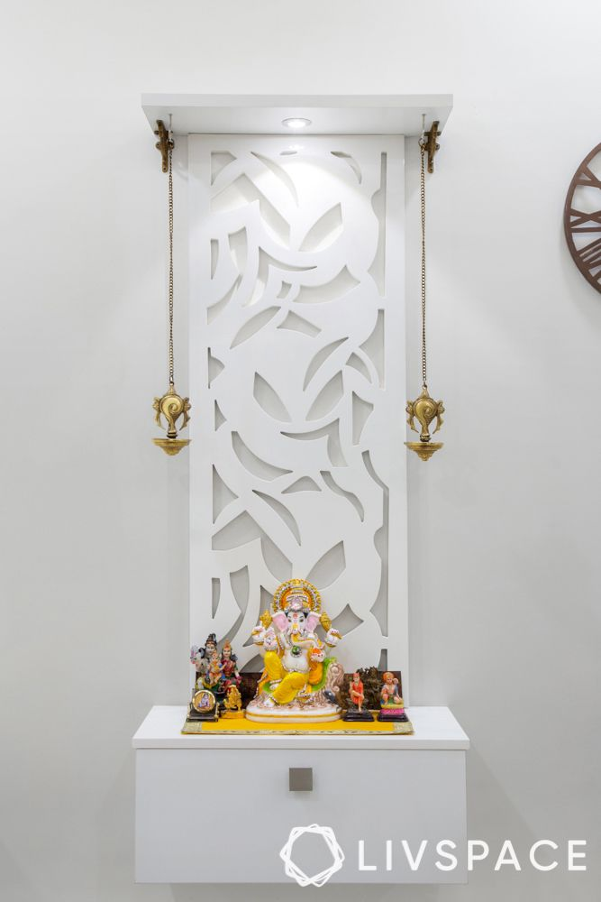 mandir unit-white