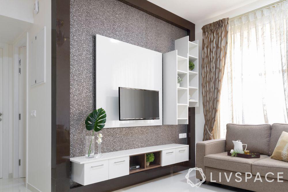 house maintenance-laminate TV unit-storage