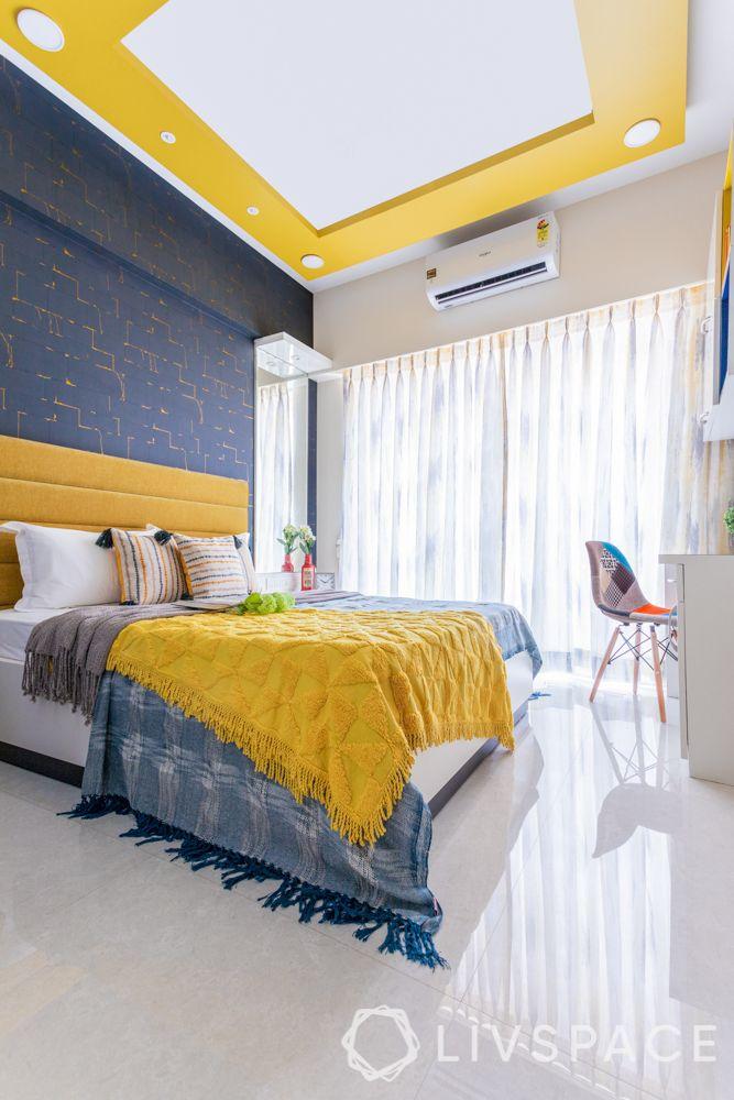 home maintenance tips-bedroom-false ceiling-bed