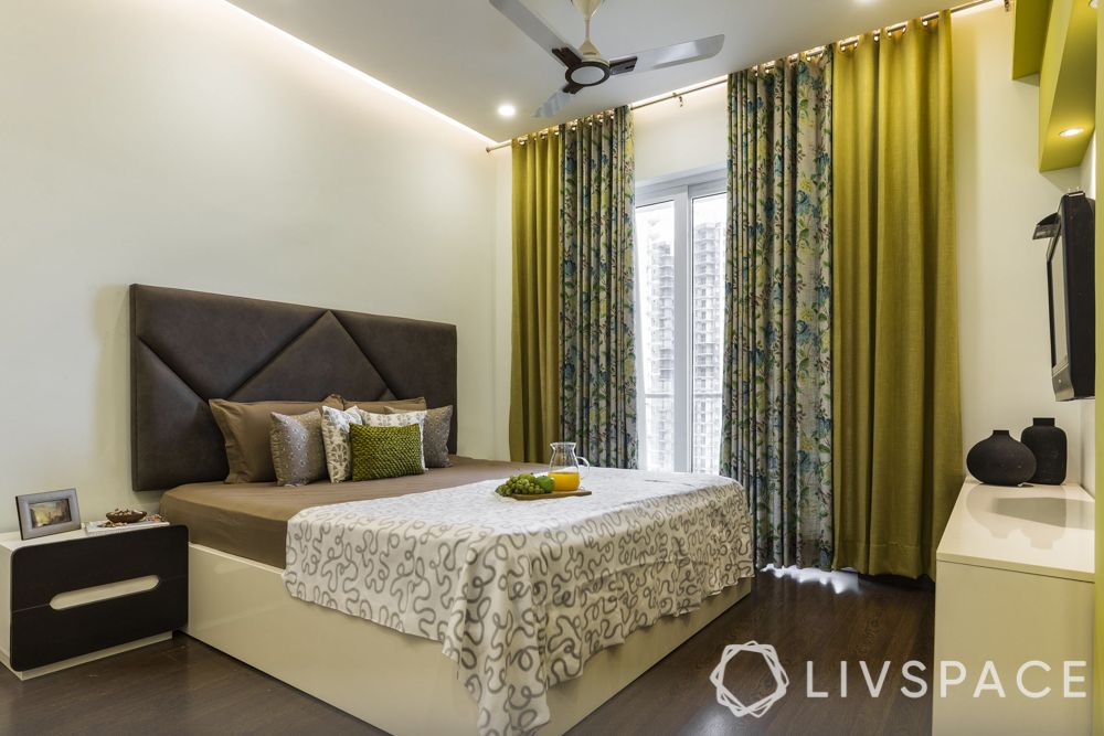 home maintenance tips-bedroom-neutral-bed-curtains