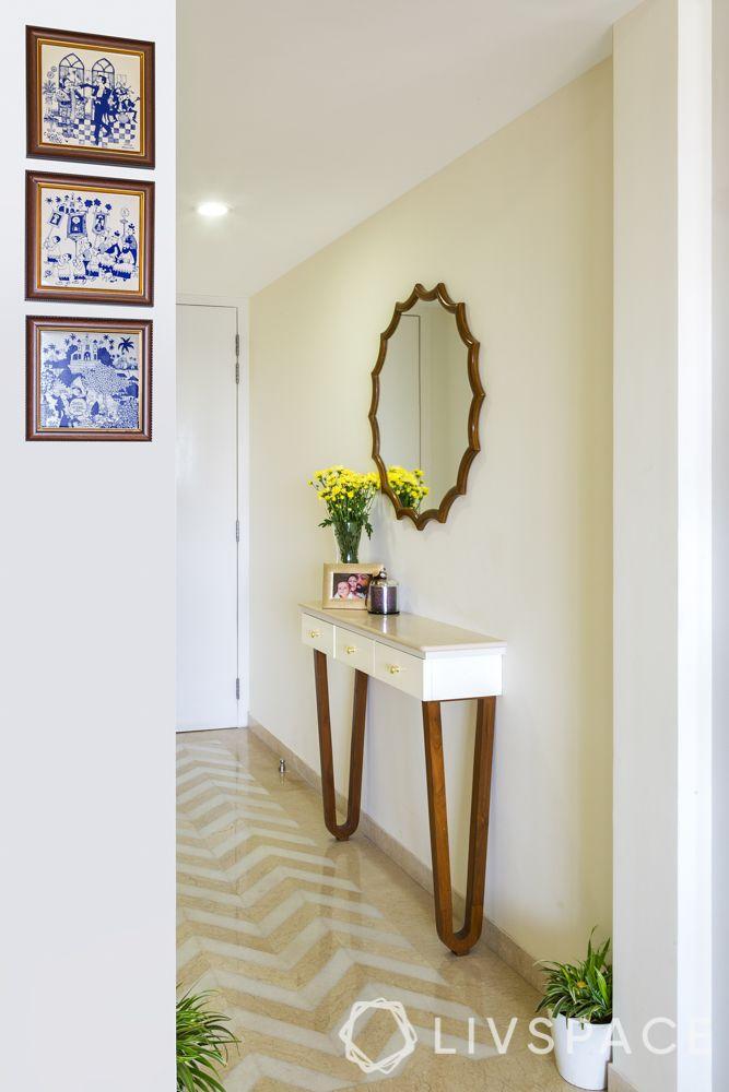 console tables-passageway design-statement flooring