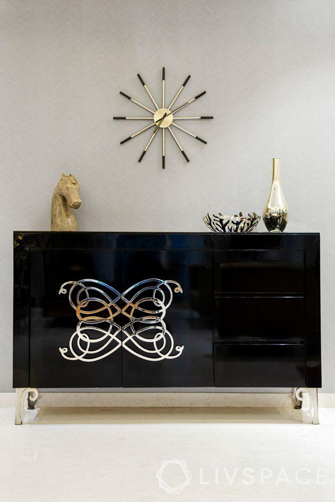 console tables-black table-mirror design