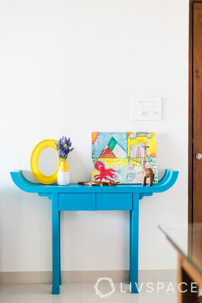 console tables-kid's console-blue console