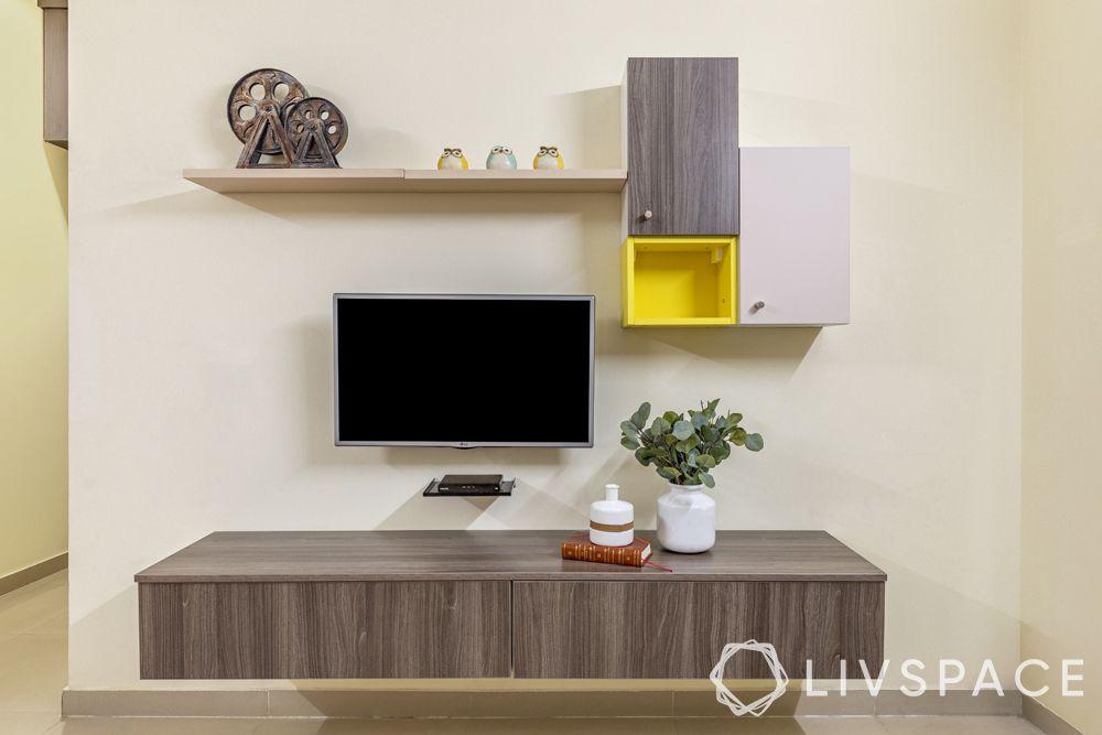 PKW: 2 bhk home interior design low budget-tv unit