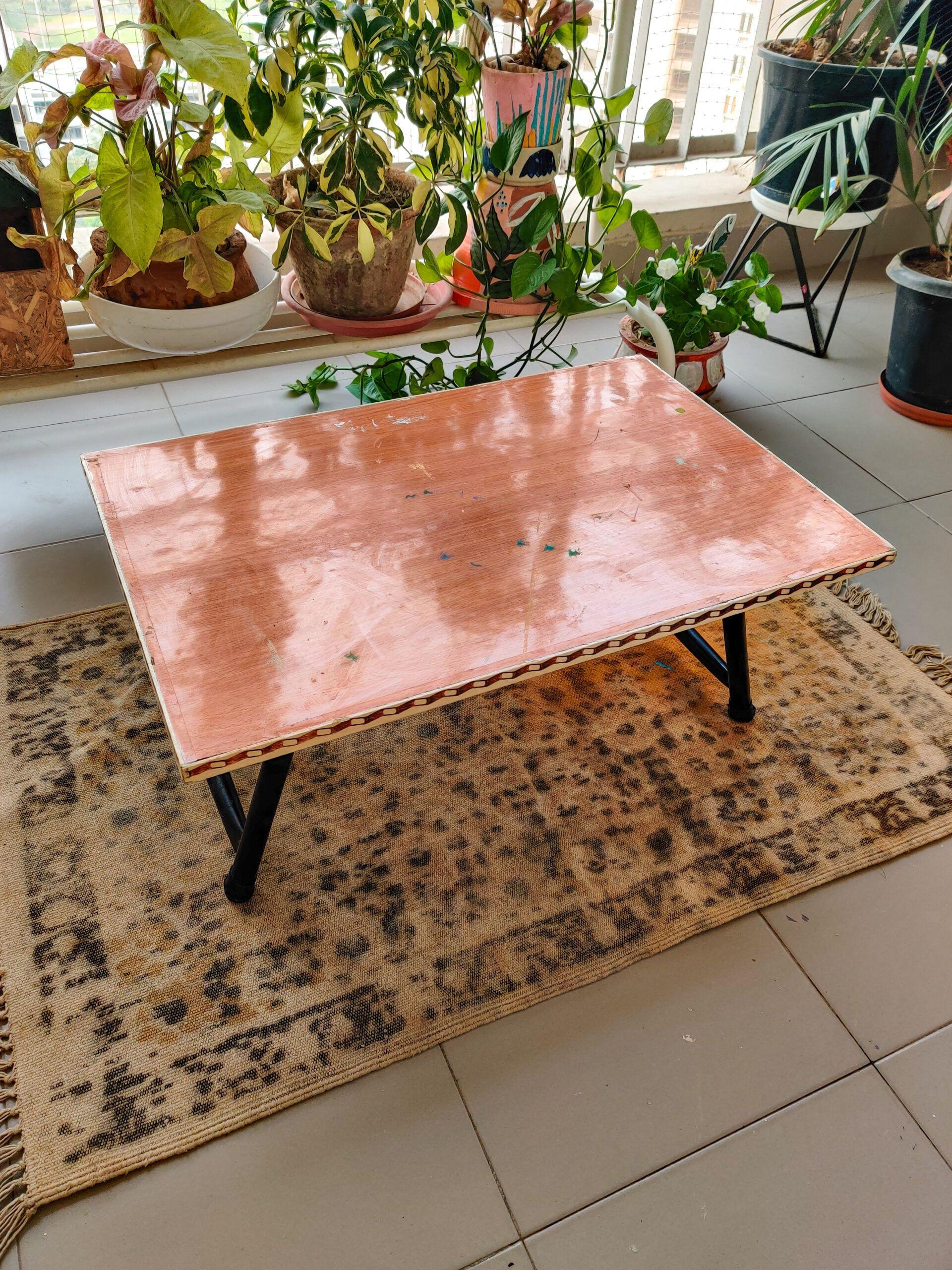 diy room decor-breakfast table-before image