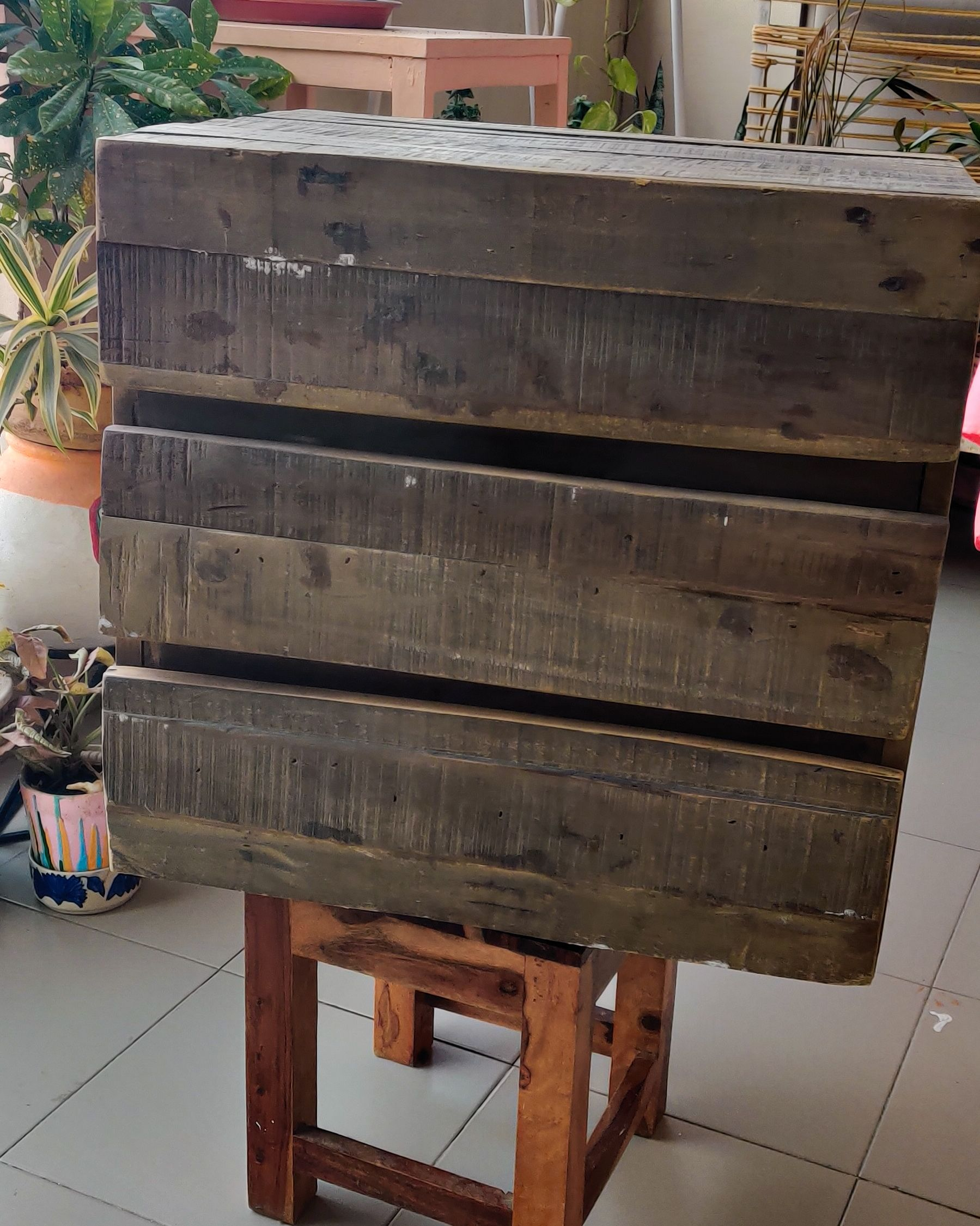diy room decor-chest of drawers-before image