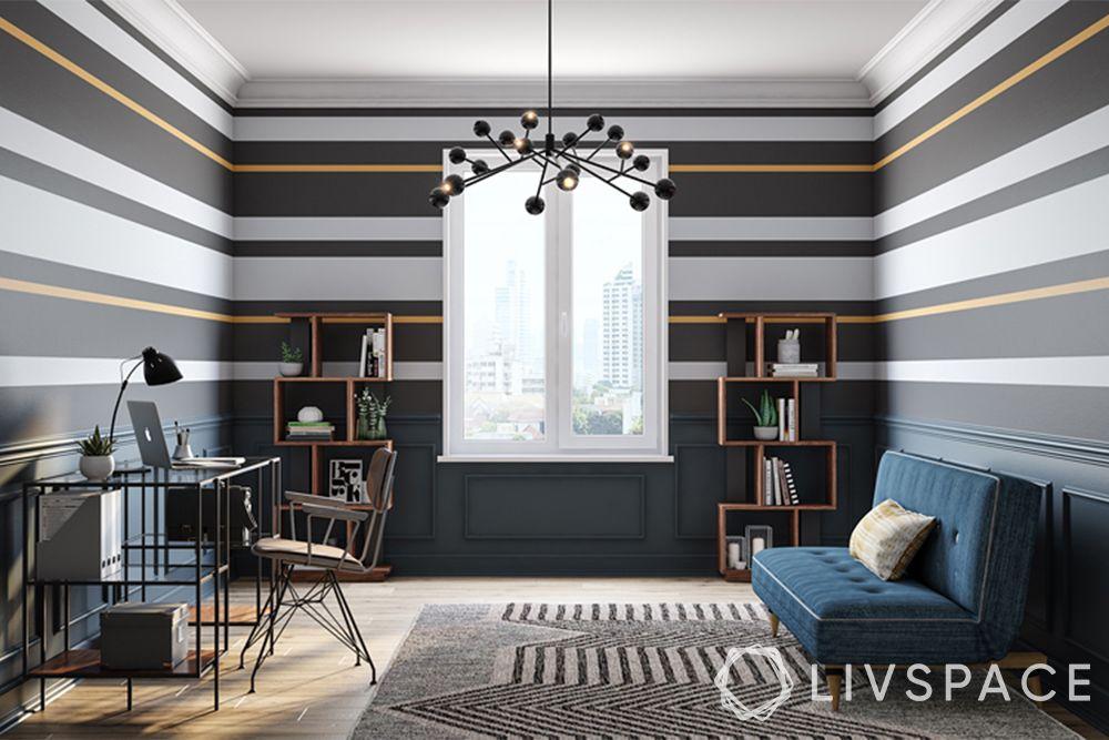 designer wall paint-stripes