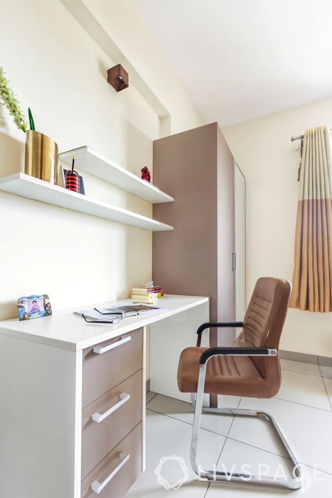 office-room-interior-design-minimalist-white-wall-brown-furniture-shelves-drawers