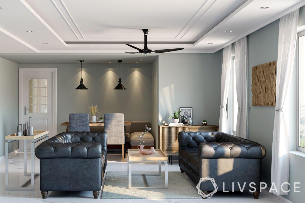 rajkummar rao-black leather sofa-minimal