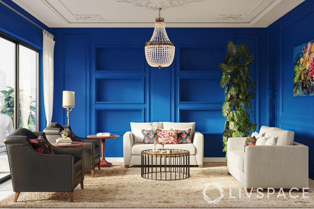 rajkummar rao-blue wall-white sofa