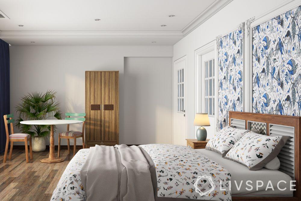 bedroom design-wooden flooring