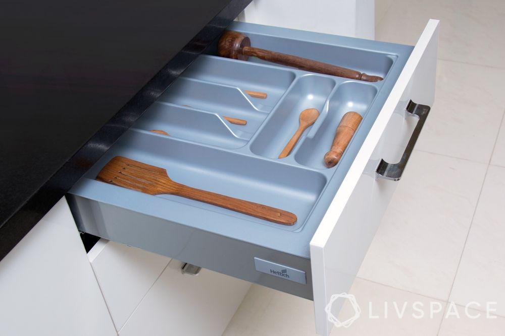 modular kitchen accessories-drawer organiser