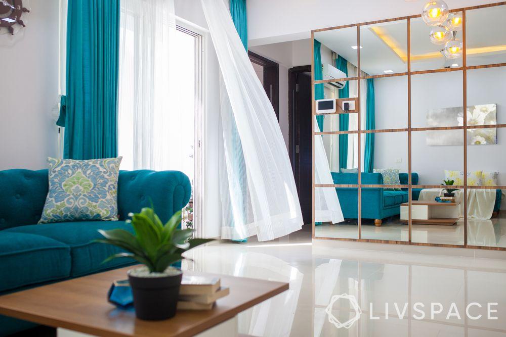 livspace pune-partition design-curtain design