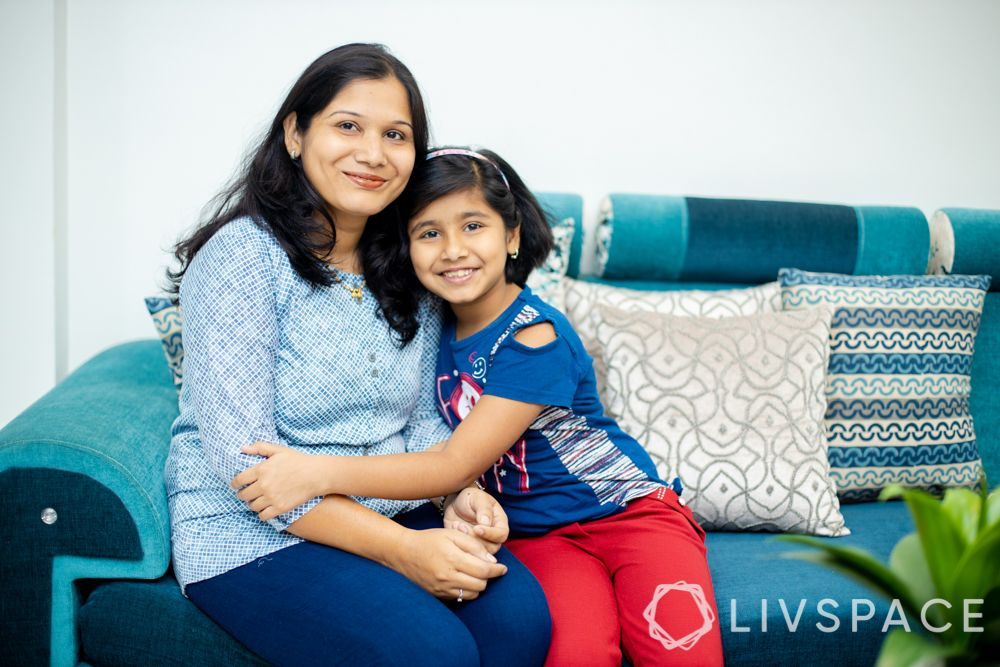 livspace pune-blue couch-family