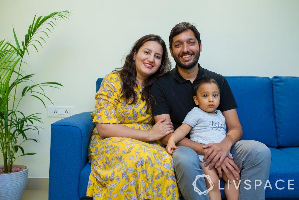 blue sofa-family