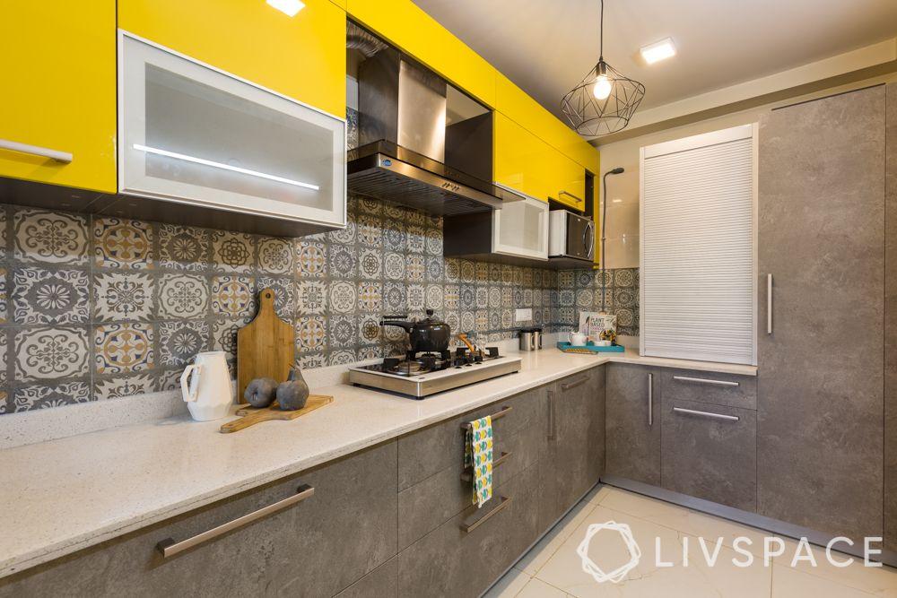 kitchen colours combination-kitchen colour trends-pantone colours-grey and yellow