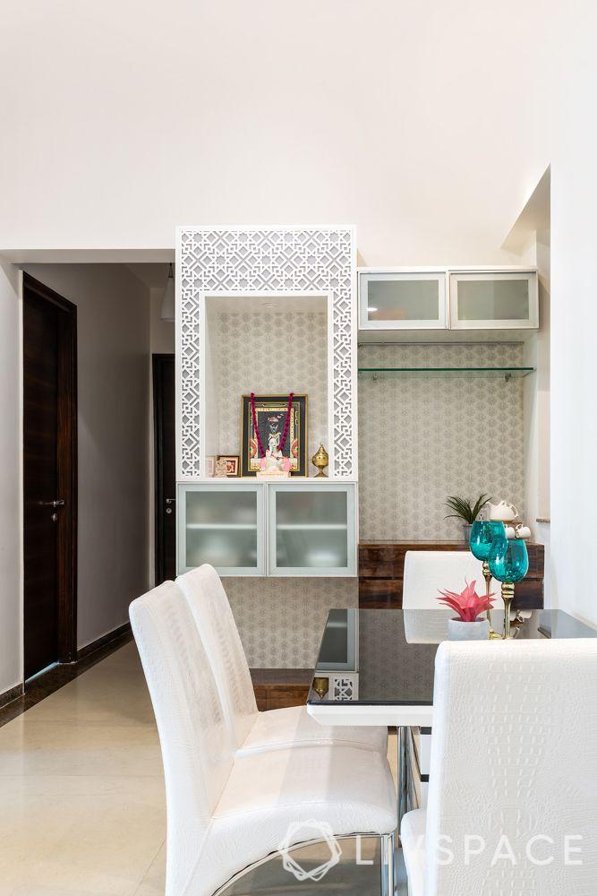 mumbai house-dining room-crockery unit-mandir unit-buffet unit