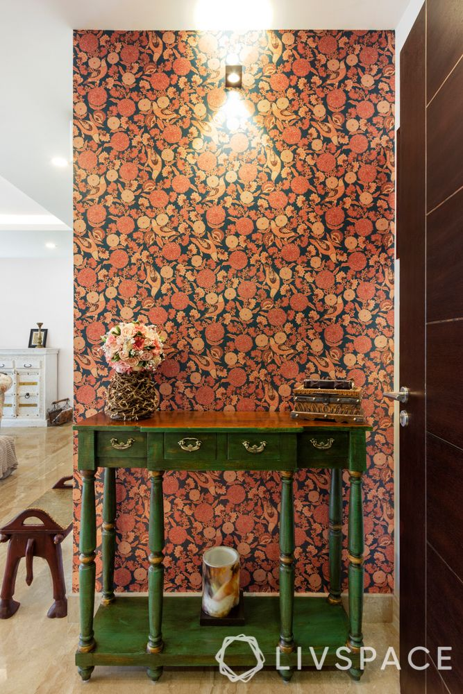 interior wall design-accent wall-Sabyasachi wallpaper