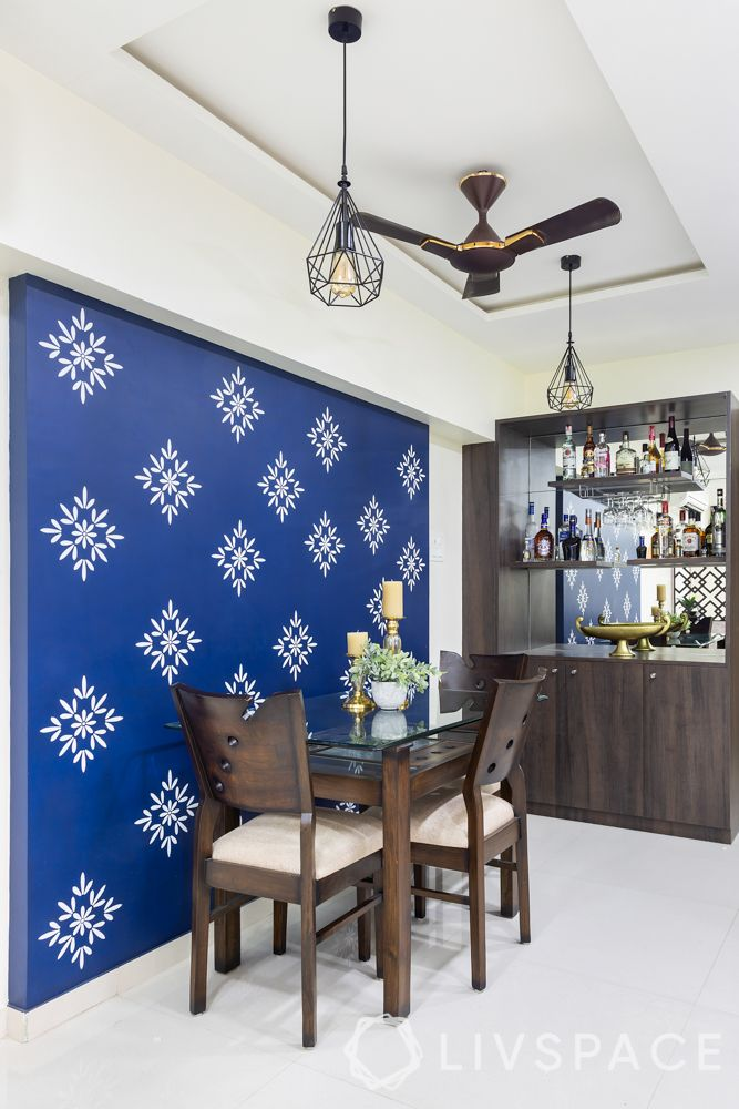 interior wall design-accent wall-stencilled wall