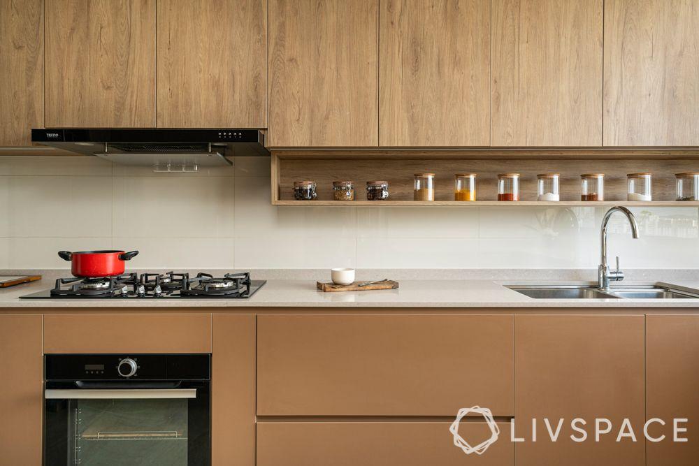 kitchen shelves-brown-kitchen-spice rack