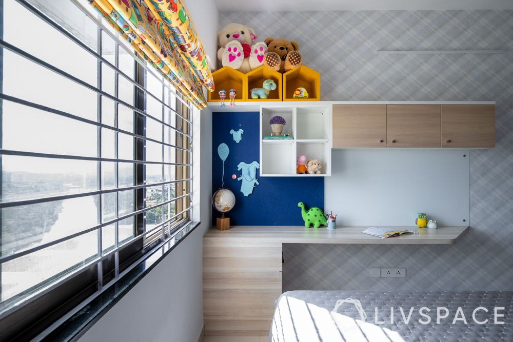 2bhk-in-Pune-kids-bedroom-study-unit-modular-cabinets