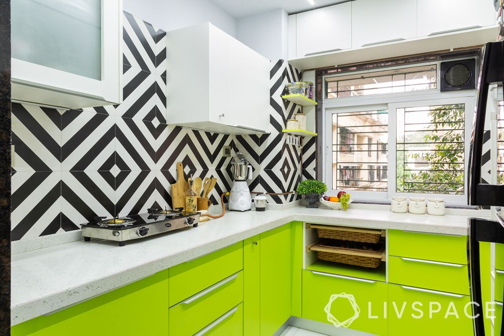 modular-kitchen-design-l-shape-small-kitchen-window-light-green-cabinets
