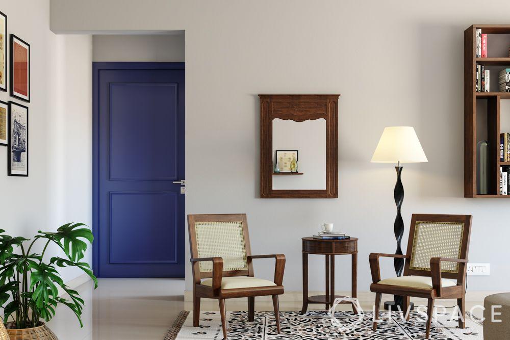 door-designs-materials-block-board-purple-door-steel-handle