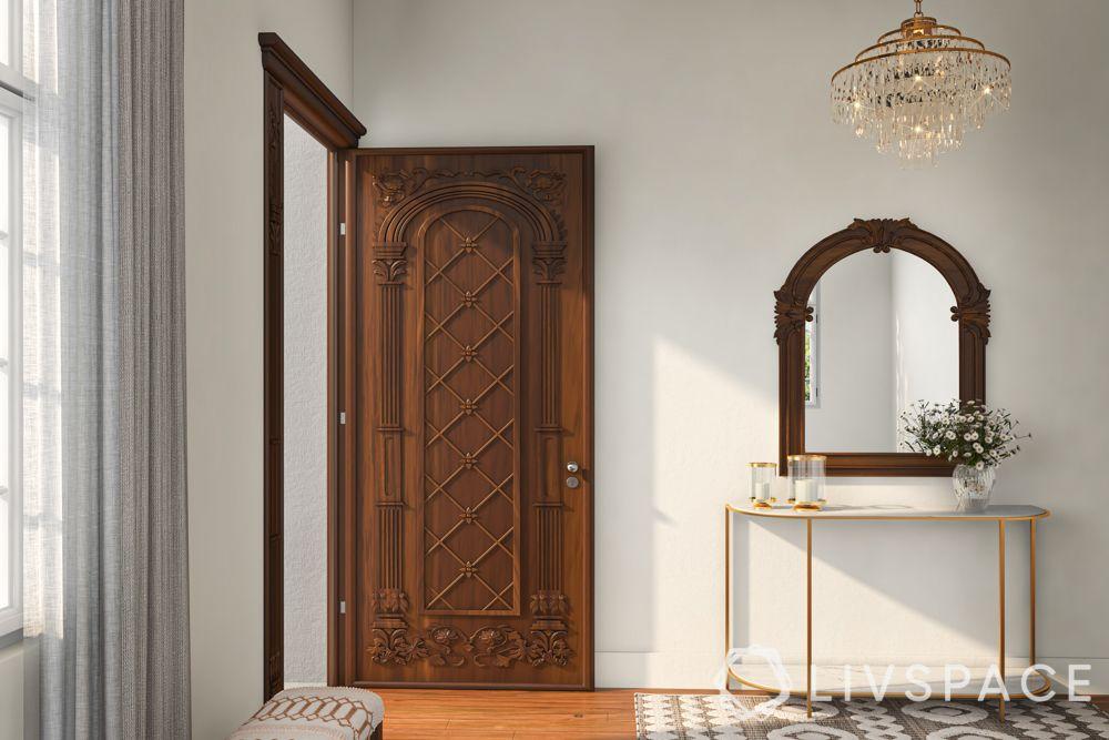 door-designs-solid-wood-door-carvings-traditional-indian-mirror