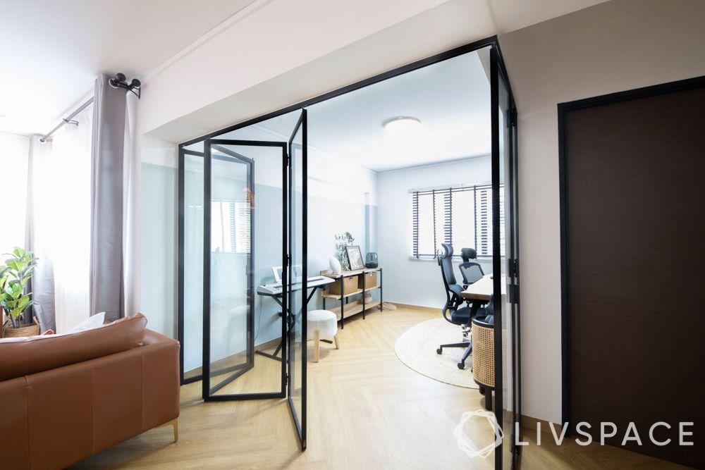 door-designs-folding-doors-black-frame-study-room