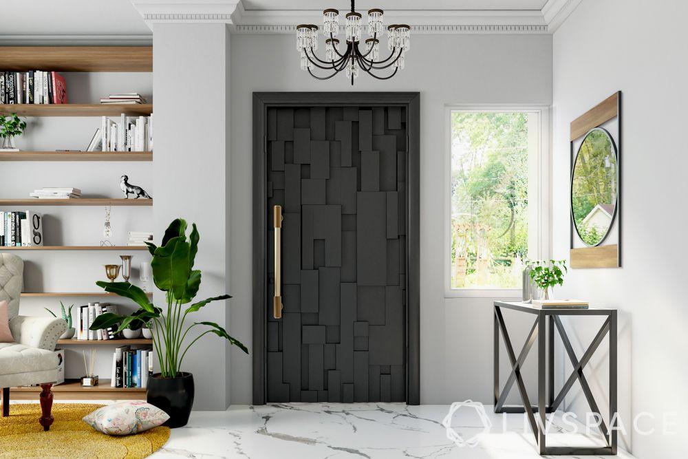 door-designs-grey-geometric-long-gold-handle-chandelier