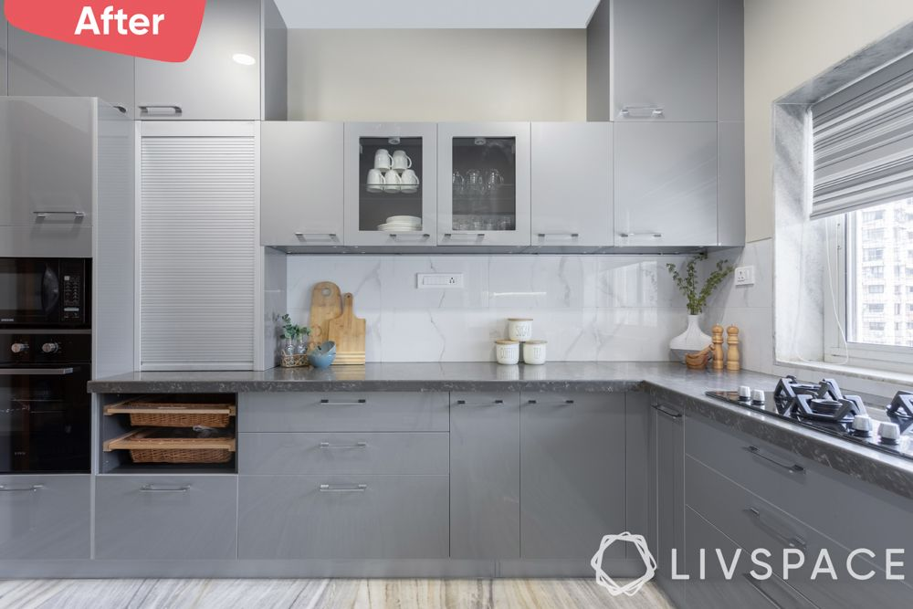 old house renovation-after image-trapezium kitchen renovation