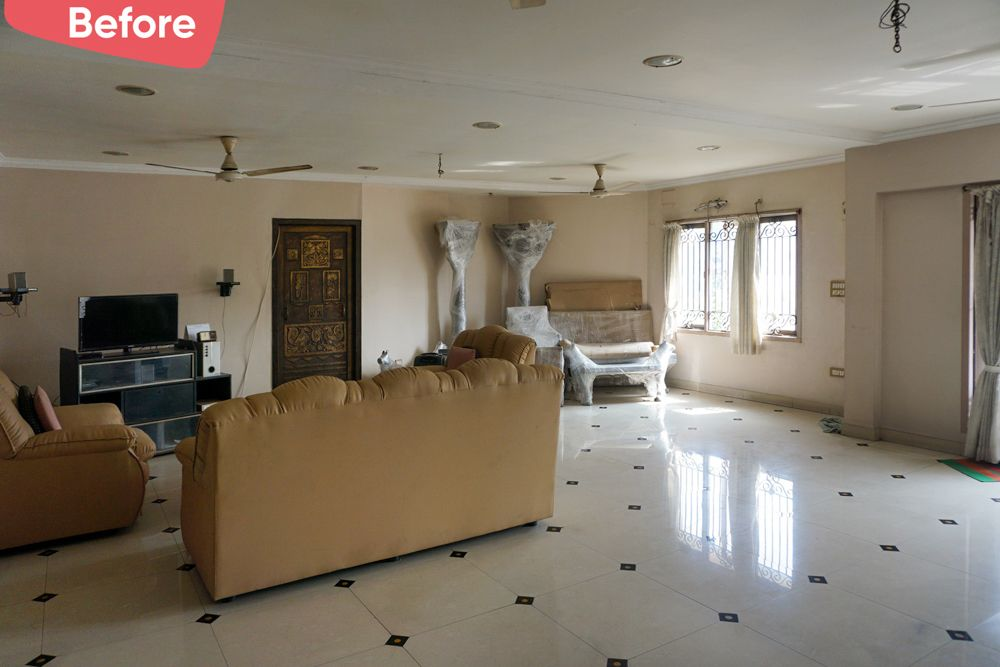 old house renovation-before image-living room-Chennai home