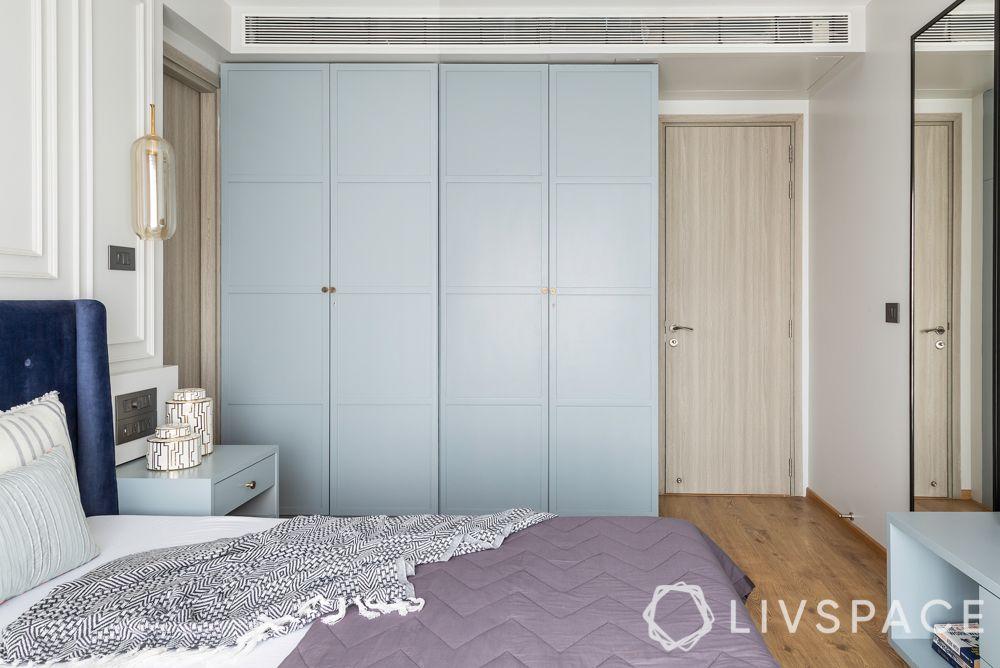 wardrobe designs-blue wardrobe-batten and board