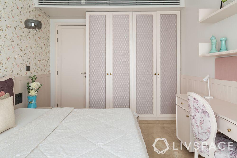 wardrobe designs-french style wardrobe-fabric panelled doors