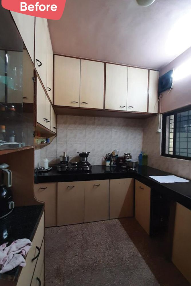 indian style kitchen design images-before image-L shaped kitchen