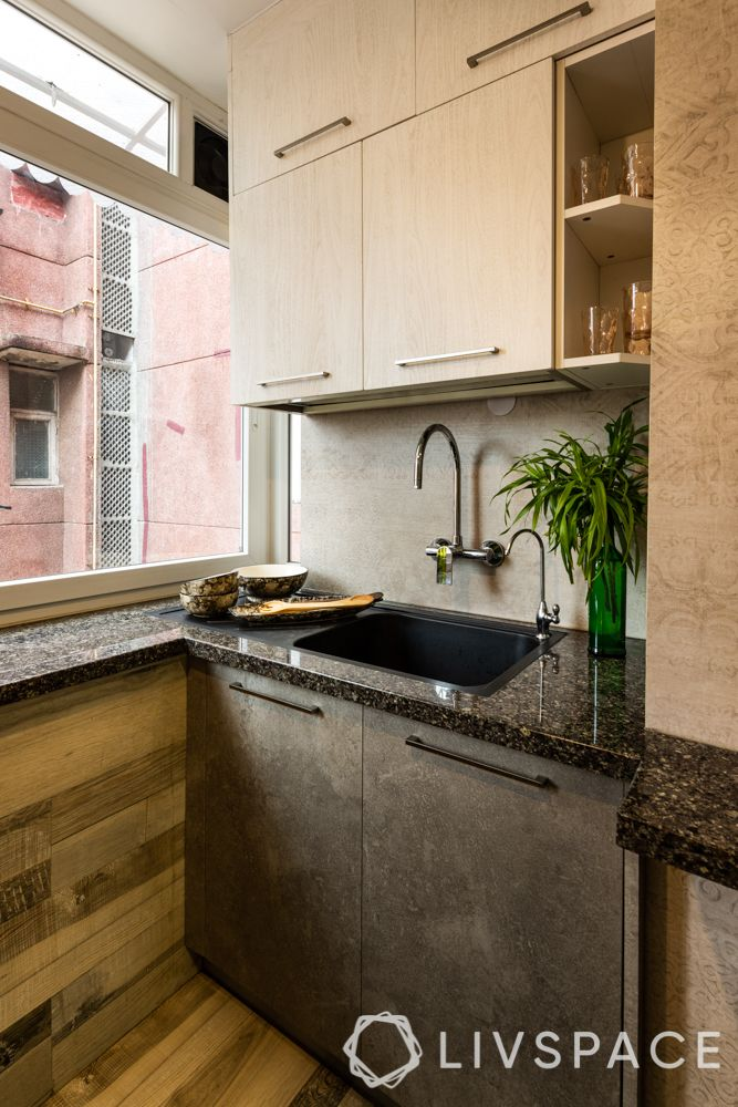 small kitchen design Indian style-extra counter space under window
